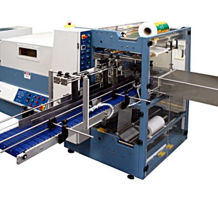Automatic collating bundle wrapper with right angle in-feed – RAC series